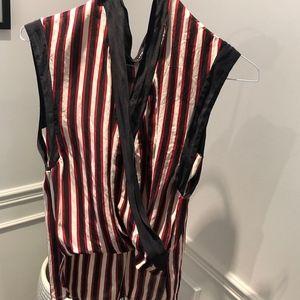 ZARA Silk Striped Shirt